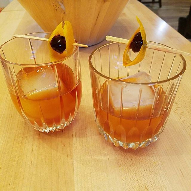 Old Fashioned On the right: Basil Hayden's On the left: Willett