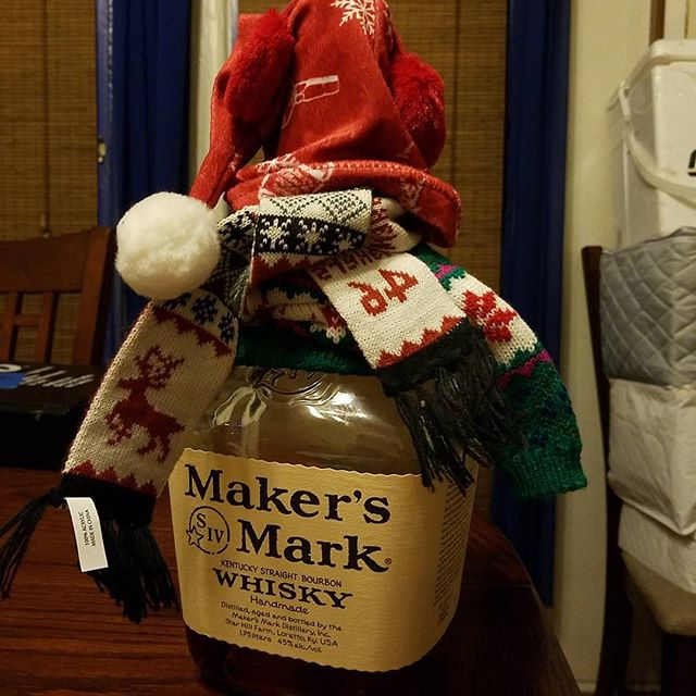 Makers Mark holiday cheer.  HAPPY holidays